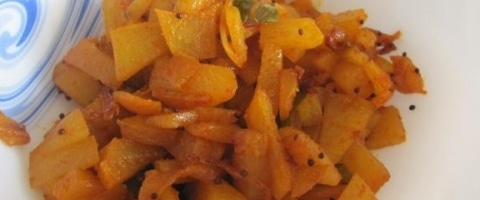 Raw Papaya Fry Recipe
