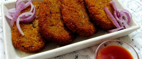 Raw Banana Cutlet/Plantain Cutlet Recipe