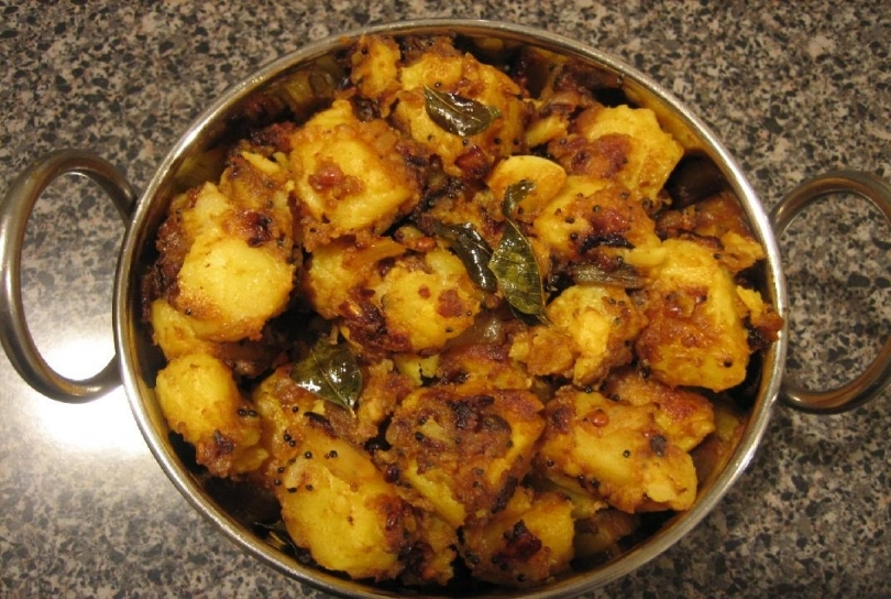 Potato Spicy Turnips Fry